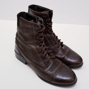 Ariat size 9.5 Brown Leather Combat Lace Boots
